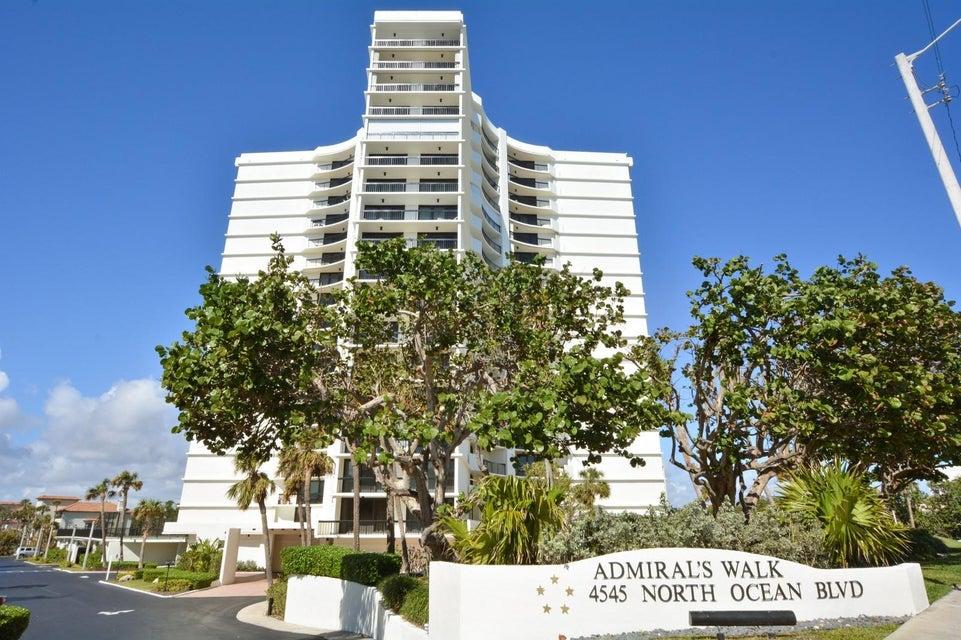 ADMIRALS WALK TOWER CONDO home on 4545 N Ocean Boulevard