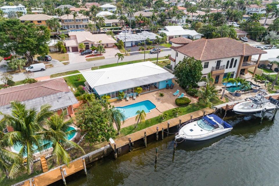 Частный односемейный дом для того Продажа на 4911 NE 27th Terrace 4911 NE 27th Terrace Lighthouse Point, Флорида 33064 Соединенные Штаты