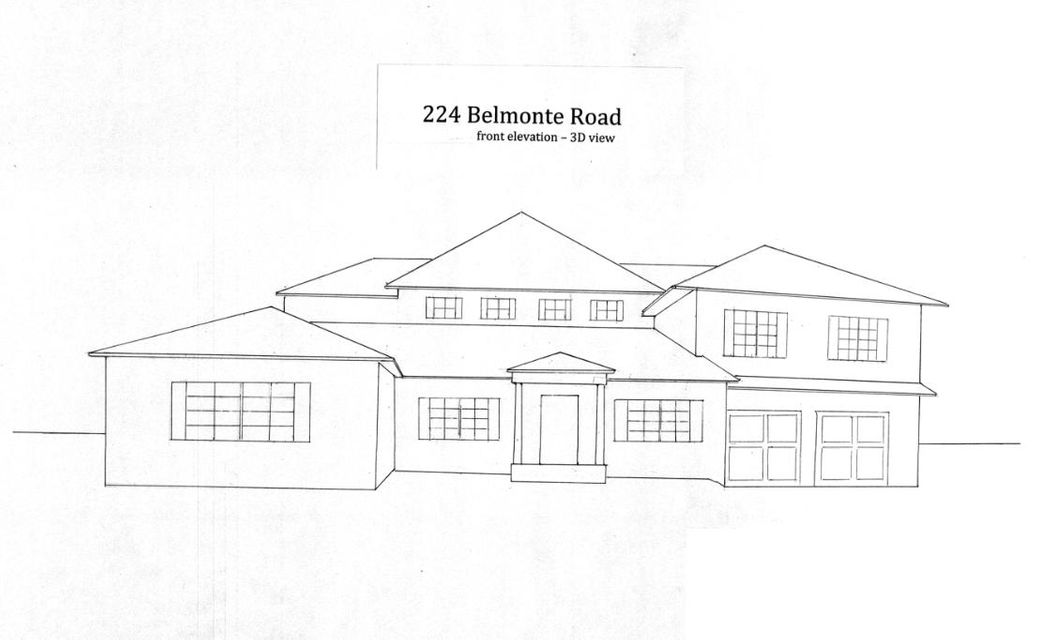 Single Family Home for Sale at 224 Belmonte Road 224 Belmonte Road West Palm Beach, Florida 33405 United States