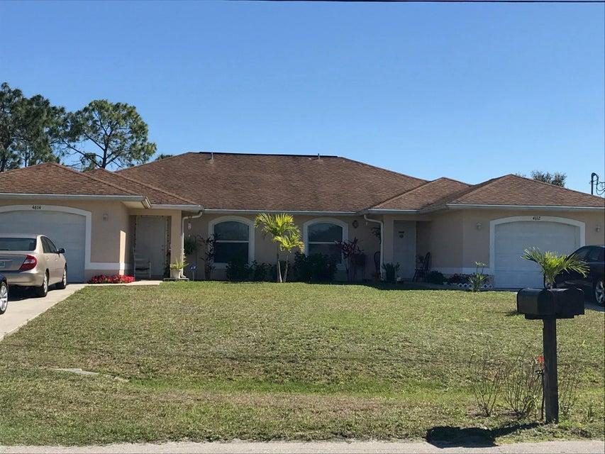 复式单位 为 销售 在 4612-4614 Golfview Boulevard 4612-4614 Golfview Boulevard Lehigh Acres, 佛罗里达州 33973 美国