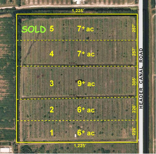 Agricultural Land للـ Sale في 1301 S Header Canal Road 1301 S Header Canal Road Fort Pierce, Florida 34945 United States