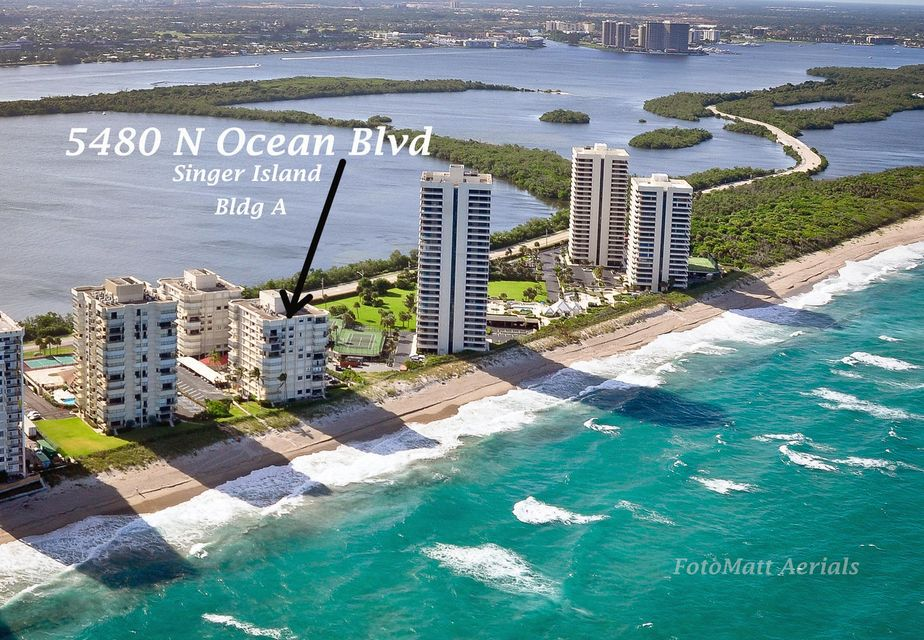 5480 N Ocean Drive is listed as MLS Listing RX-10423536 with 2 pictures