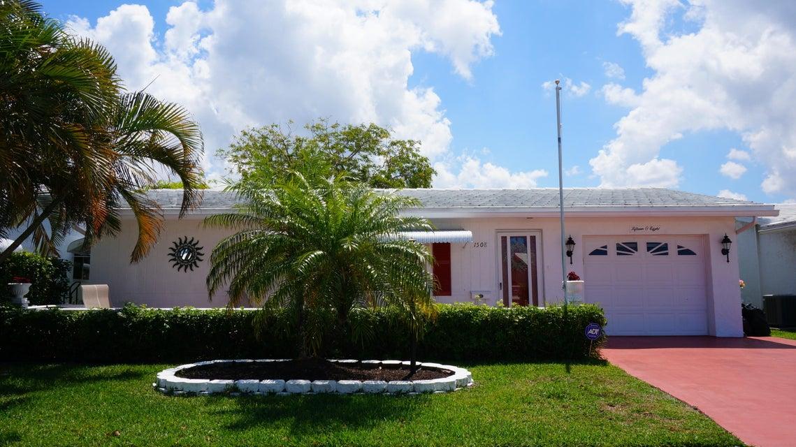1508 Alfred Drive  Boynton Beach FL 33426