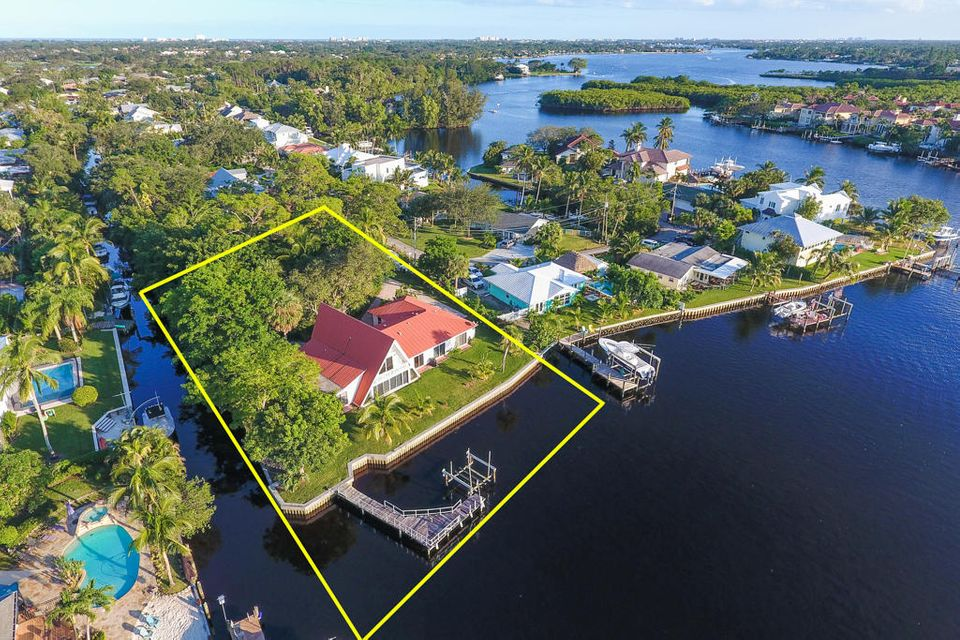Home for sale in Cove PointPoint lot on the River Release of unity of Title may be possible! check documents in MLS Tequesta Florida