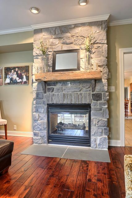 Double Sided Fireplace in Family Room