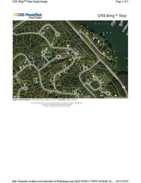 Land for Sale at 240 Ootsima Way 240 Ootsima Way Loudon, Tennessee 37774 United States