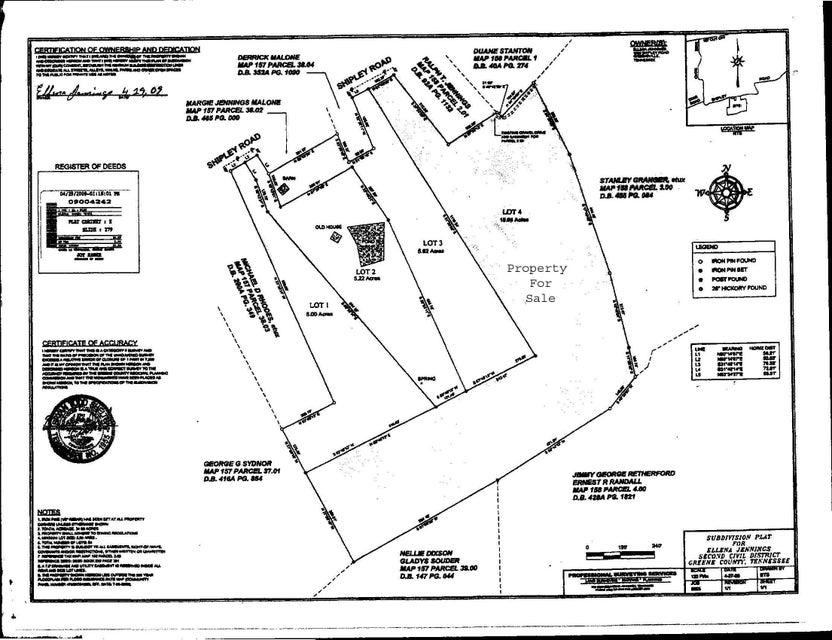 Terrain pour l Vente à Shipley Road Greeneville, Tennessee 37745 États-Unis