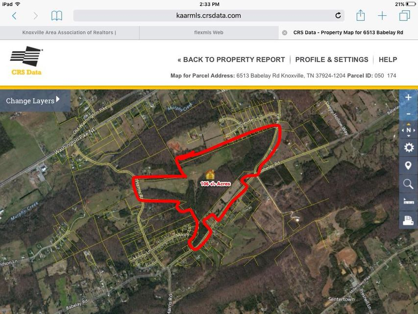 Land for Sale at 6513 Babelay Road 6513 Babelay Road Knoxville, Tennessee 37924 United States