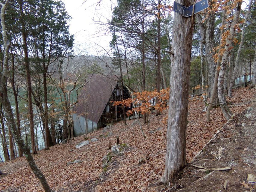 Lakefront cabin for sale at Flat Hollow
