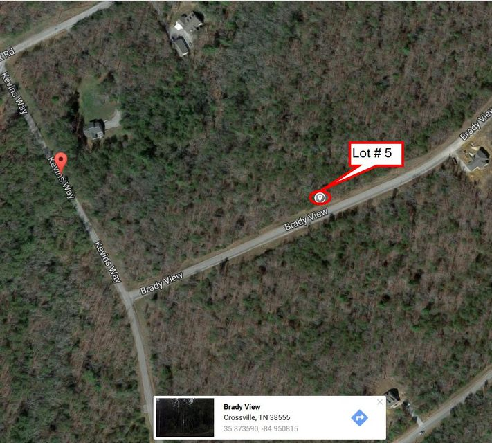 Additional photo for property listing at Lot # 05 Brady View Drive Lot # 05 Brady View Drive Crossville, Tennessee 38555 États-Unis