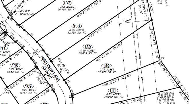 土地 为 销售 在 140 High View Lane #140 140 High View Lane #140 诺克斯维尔, 田纳西州 37931 美国
