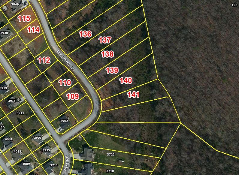 土地 为 销售 在 141 High View Lane #141 141 High View Lane #141 诺克斯维尔, 田纳西州 37931 美国
