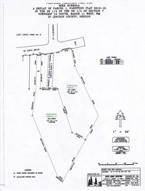 TL100-L1 SE 130th St, South Beach, OR 97355 - 130th Lots-Plat