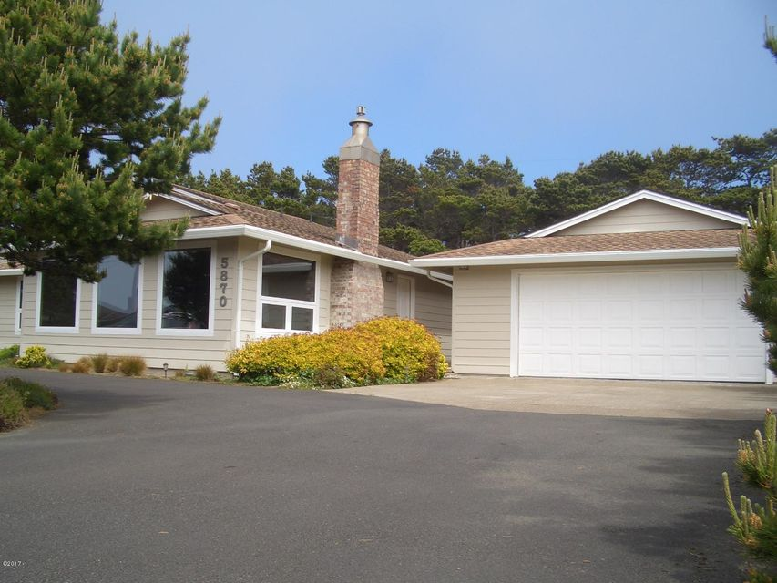 5870 El Mar Ave, Gleneden Beach, OR 97388 - Welcoming Entry!