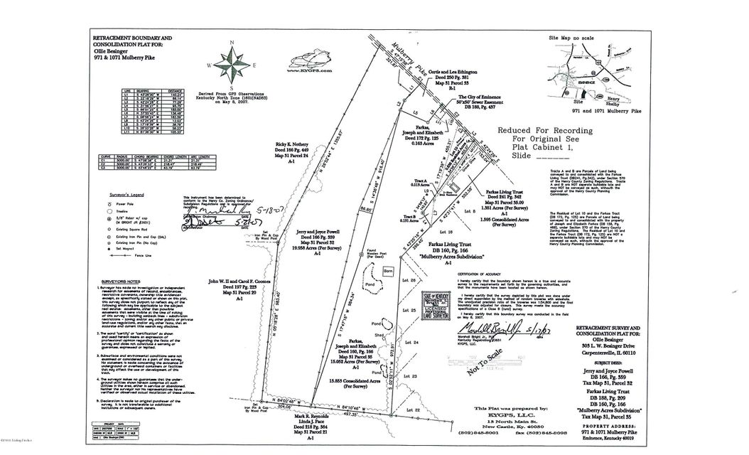 Land for Sale at 971 Mulberry Pike Eminence, Kentucky 40019 United States