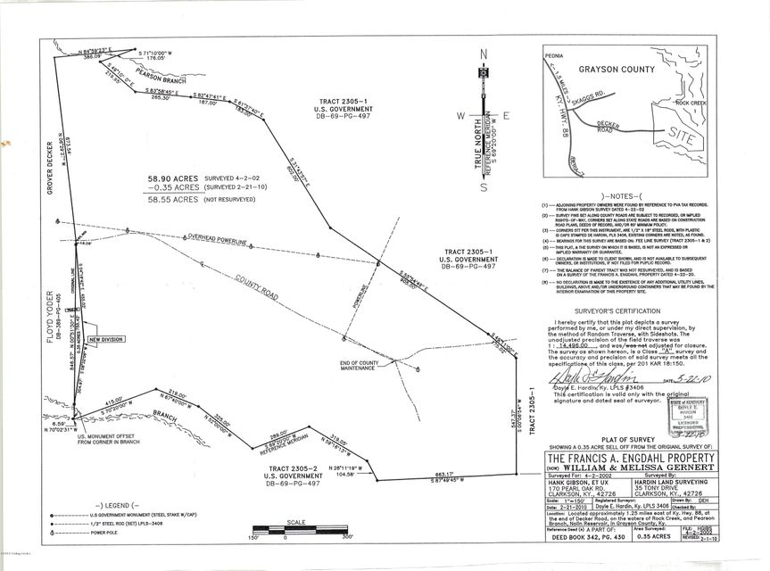 Land for Sale at Decker Clarkson, Kentucky 42726 United States