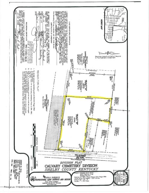 Land for Sale at 100 7th Street 100 7th Street Shelbyville, Kentucky 40065 United States