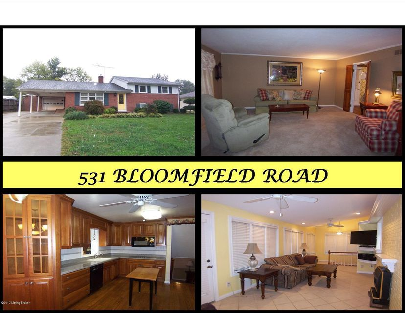 Single Family Home for Sale at 531 Bloomfield Road Bardstown, Kentucky 40004 United States