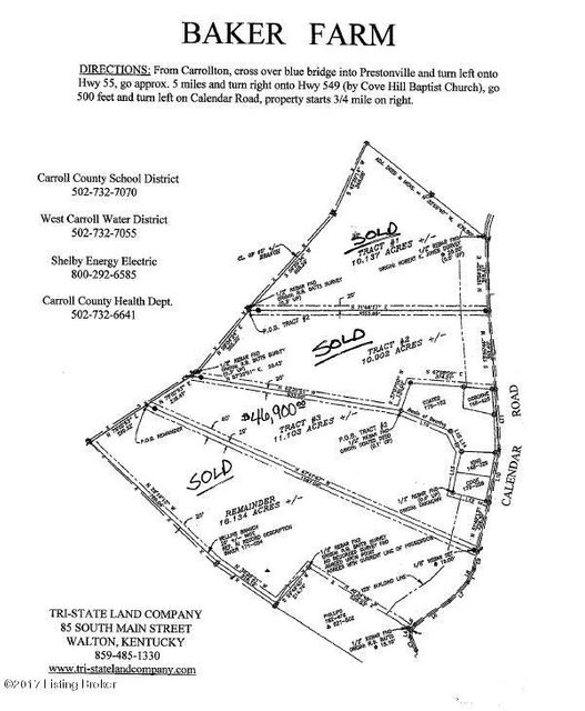 Land for Sale at 3 Calender 3 Calender Carrollton, Kentucky 41008 United States