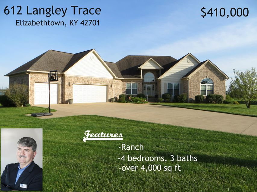 Single Family Home for Sale at 612 Langley Trace Elizabethtown, Kentucky 42701 United States