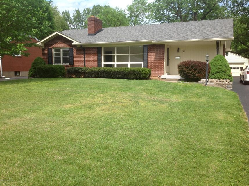 Single Family Home for Sale at 719 Indian Ridge Road Louisville, Kentucky 40207 United States