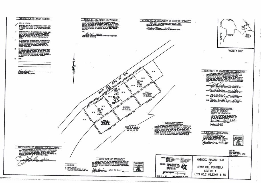 Land for Sale at 60A Brier Hill Mammoth Cave, Kentucky 42259 United States
