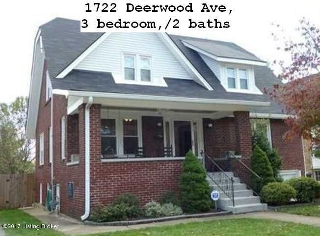 Single Family Home for Rent at 1722 Deerwood Avenue Louisville, Kentucky 40205 United States