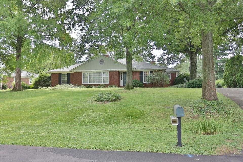 Single Family Home for Sale at 510 Ridgewood Road Louisville, Kentucky 40207 United States