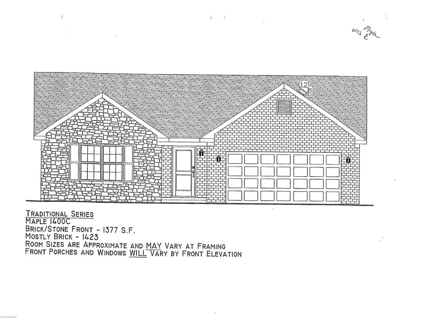 Single Family Home for Sale at Lot 101 Boulders West Drive Shepherdsville, Kentucky 40165 United States