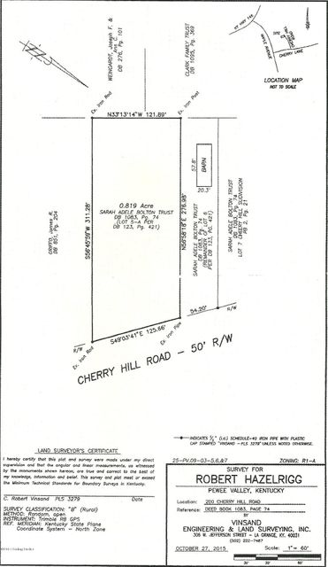 Land for Sale at 5a Cherry Hill Pewee Valley, Kentucky 40056 United States