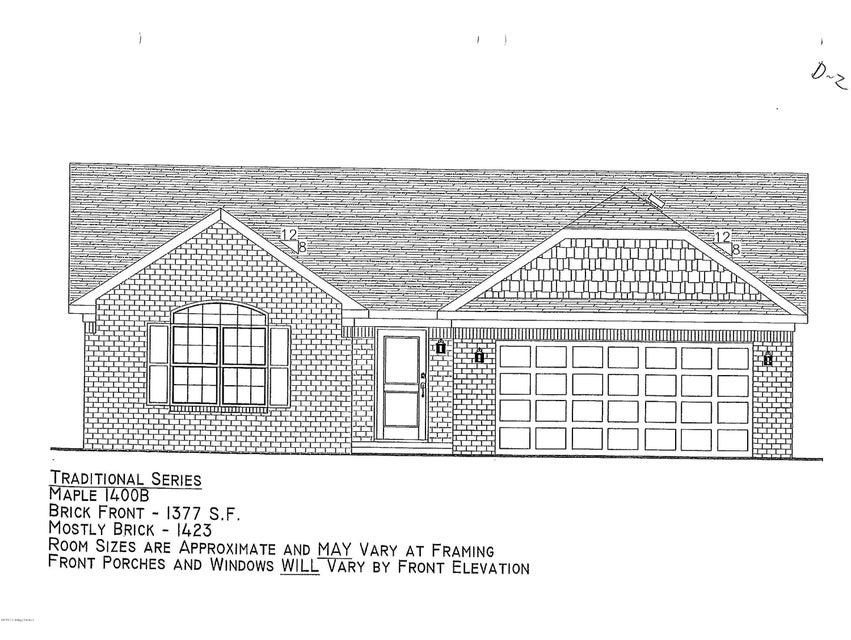 Single Family Home for Sale at Lot 313 Garnette Court Lot 313 Garnette Court Mount Washington, Kentucky 40047 United States