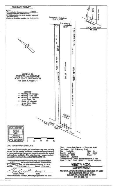 Land for Sale at 1919 Newburg 1919 Newburg Louisville, Kentucky 40205 United States