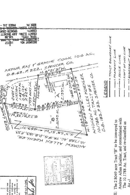 Land for Sale at 5 Ochs 5 Ochs Taylorsville, Kentucky 40071 United States