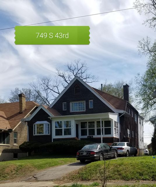 Single Family Home for Sale at 749 S 43rd Street 749 S 43rd Street Louisville, Kentucky 40211 United States