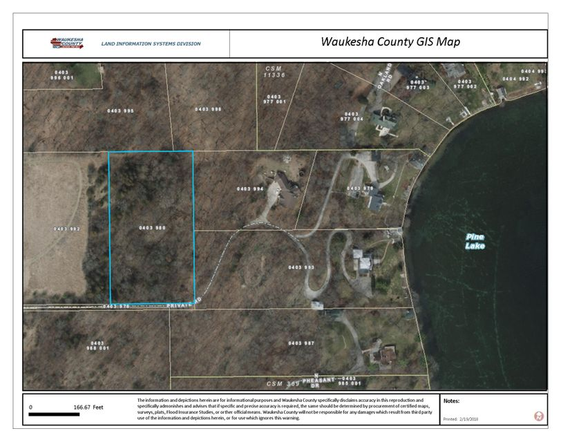 Land for Sale at Lot 1 County Road C Lot 1 County Road C Chenequa, Wisconsin 53058 United States
