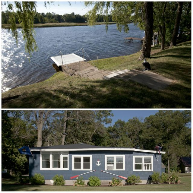 LOCATION ~ LOCATION ~ LOCATIONPeshtigo Prime Waterfront Home! 105ft. of groomed Peshtigo River frontage that you can do it all! Fish, swim, ski, jet ski, boat or just relax and enjoy the majestic, magical property. Home features a ranch style 2 plus bedroom, 1 bath partial basement. KT has appliances including a dishwasher. Many windows offering gorgeous views and rays of sunshine. Older detached garage and lot is partially wooded. Point, septic are older but in working order with a good water test in 2016. Irrigation system around the home for the landscaping. Charming, turn key to enjoy immediately or as an investment or, uniquely situated in this prime location surrounded by newer construction for a future building site. This is a RARE find!