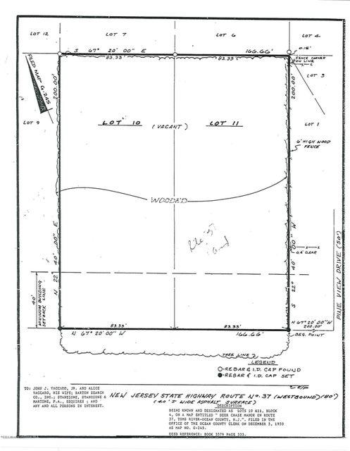 土地 のために 売買 アット 180 Route 37 180 Route 37 Toms River, ニュージャージー 08755 アメリカ合衆国
