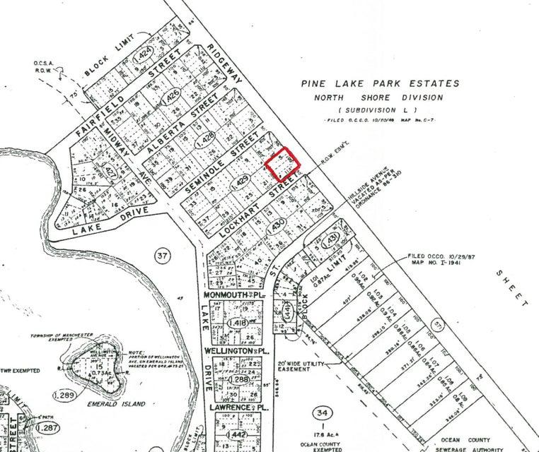 土地 为 销售 在 2221 Ridgeway Road 汤姆斯河, 新泽西州 08755 美国