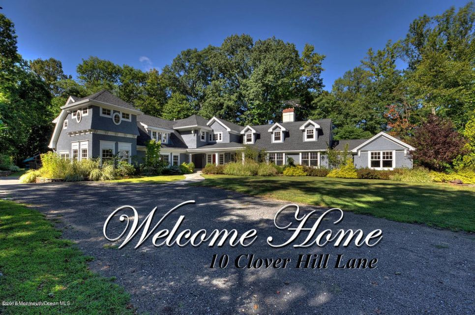Single Family Home for Sale at 10 Clover Hill Lane Colts Neck, New Jersey 07722 United States