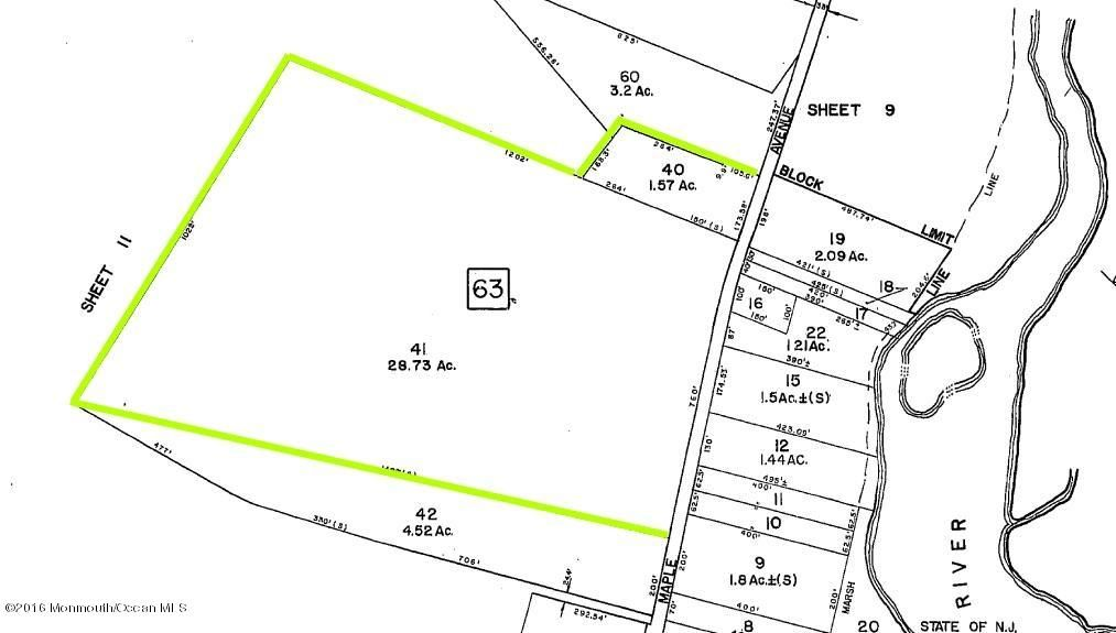 Land for Sale at 137 Maple Avenue New Gretna, New Jersey 08224 United States