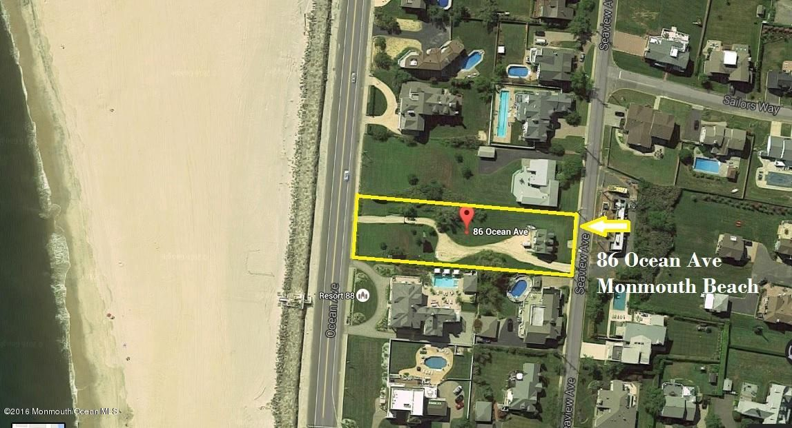 Land for Sale at 86 Ocean Avenue Monmouth Beach, 07750 United States