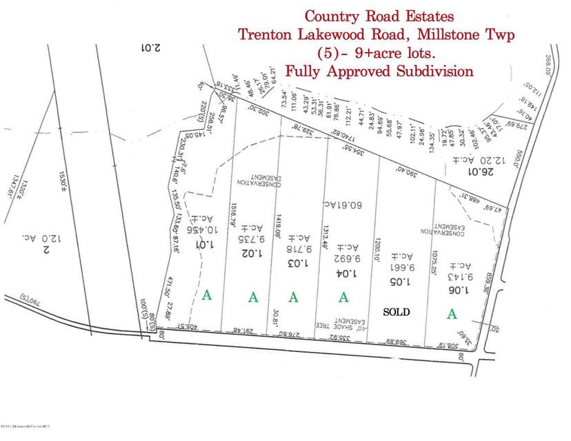 Land for Sale at 119 Trenton Lakewood Road Millstone, 08510 United States