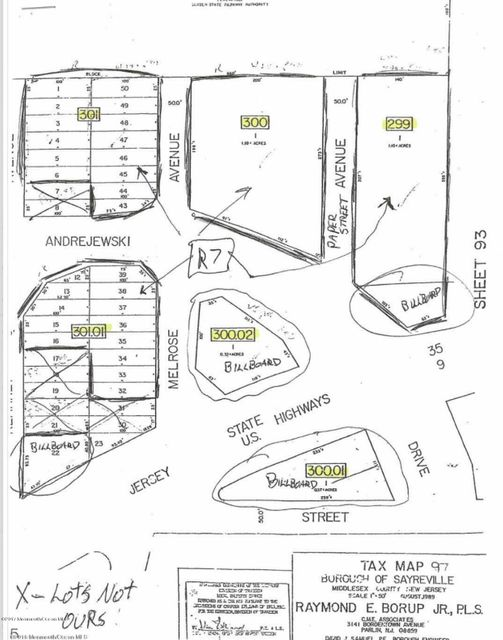 Land for Sale at Andrejewski Drive South Amboy, 08879 United States