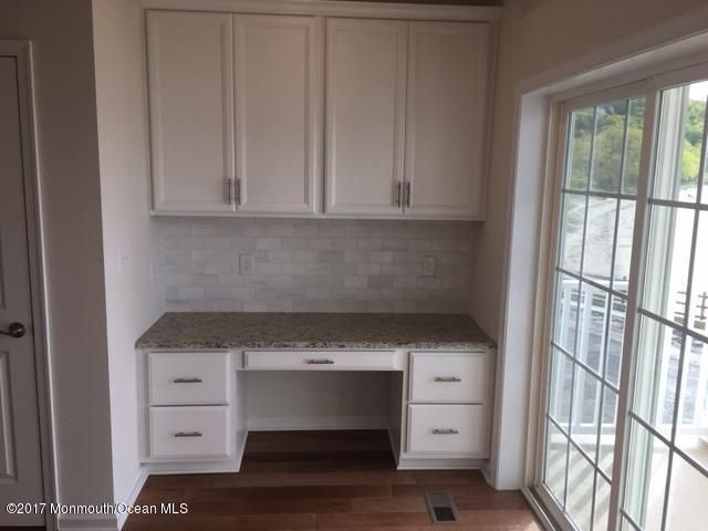 functional desk space off kitchen