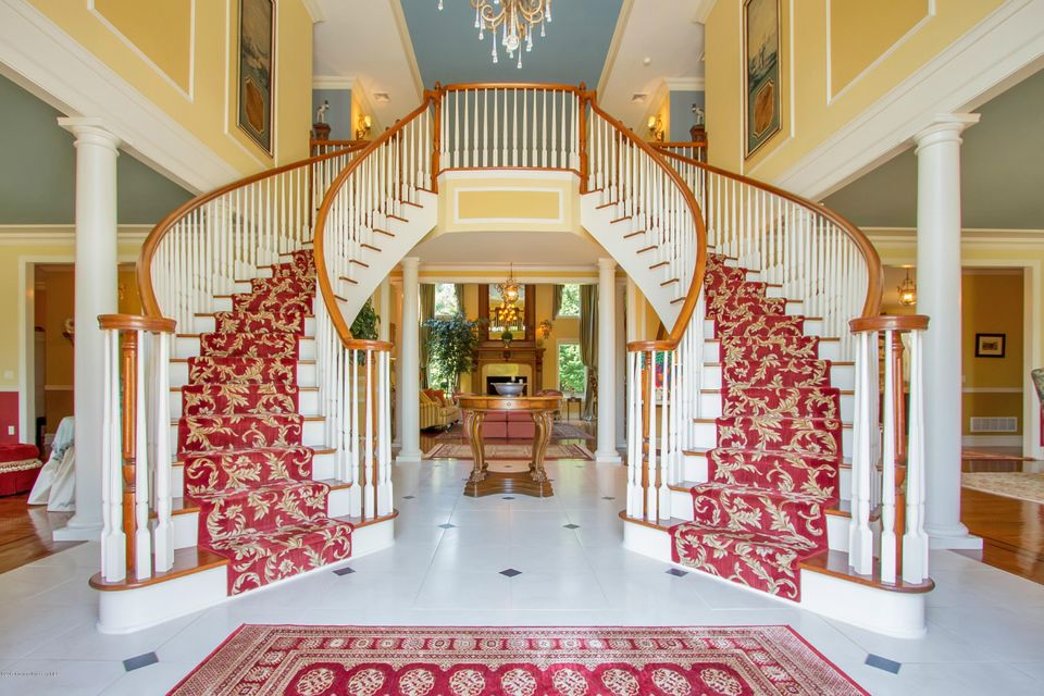 Grand foyer with wedding staircase