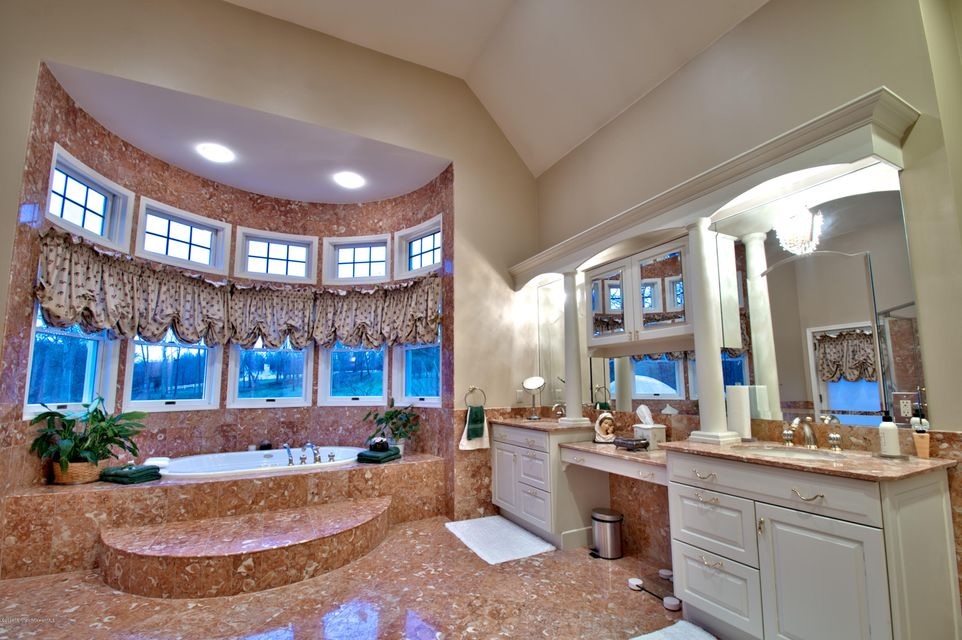 Marble Floors & Double Vanity