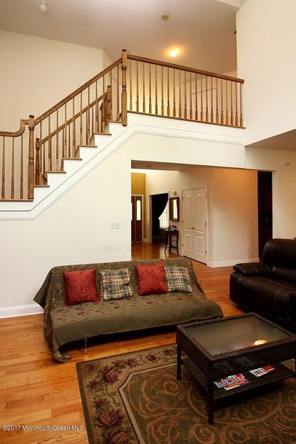 staircase overlooking family room