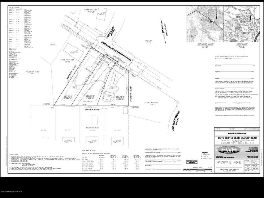 Terrain pour l Vente à 1490 Lanes Mill Road 1490 Lanes Mill Road Lakewood, New Jersey 08701 États-Unis
