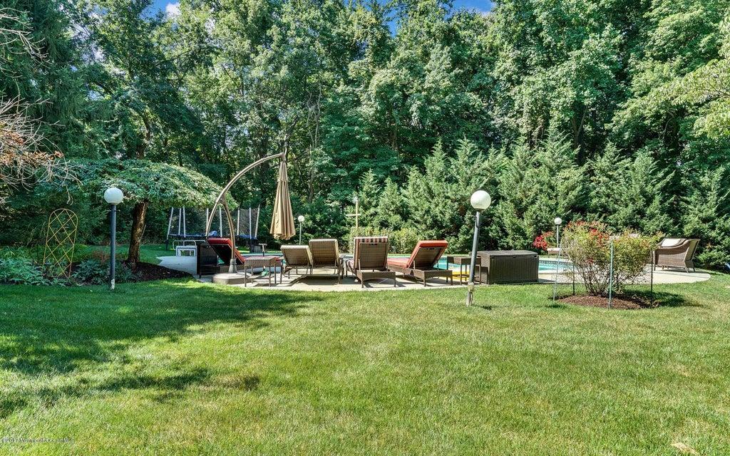 Backyard view of pool