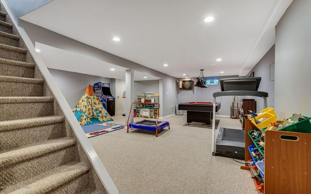 View of full finished basement